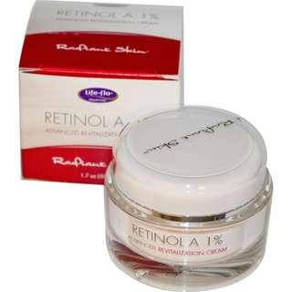 [Life Flo Health] Retinol A 1%, Advanced Revitalization Cream, 1.7 oz (50 ml)