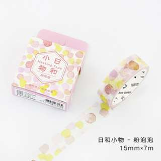 Only 1 Instock! (Mix & Match)*Pink Bubbles Theme Washi Tape