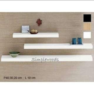 Rak dinding minimalis 3pcs