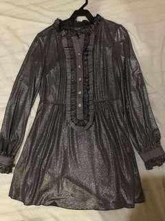 Vintage Metallic dress