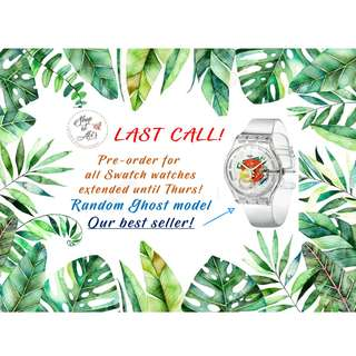 Pre-order for SWATCH WATCHES Random Ghost Model Extended!