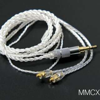 MMCX upgrade silver coated cable for earphone