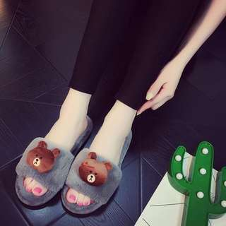 [PROMO] quality LINE slippers plush sandals