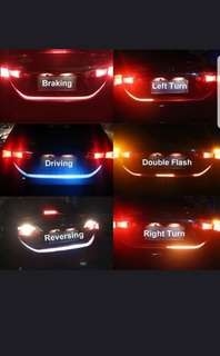 car tail trunk multi colour warning light flow type driving signal led strip