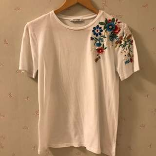 Zara Trafalfuc Embroidered shitt