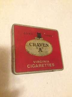 Rusty Vintage Craven A Virginia Cigarettes Tin