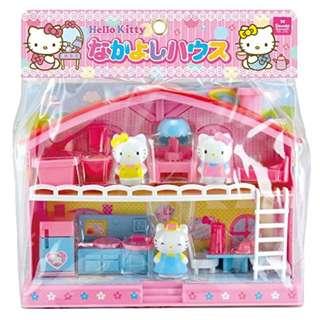 清貨特價全新原裝正版 日本限量版sanrio Hello kitty 雙層花園屋套裝玩具 (不是 ,LEGO ,disney,sanrio,TOMICA,TAKARA tomy,banbai)
