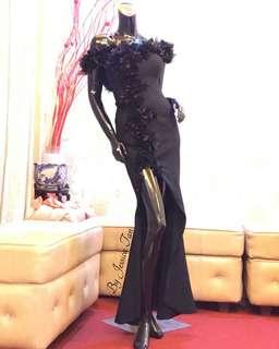 Sabrina 3D-petals mermaid dress
