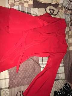 Red 1 mini dress