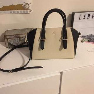 PRICE DROP Kate Spade Medium Sized Black And Cream Purse