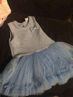 Baby blue ribbon dress