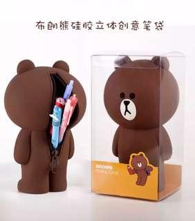 【BROWNIE】LINE X FRIENDS silicon soft pencil case