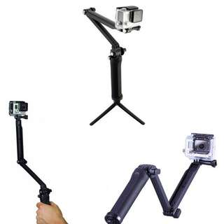 Portable 3Way Extendable Monopod Selfie Pole Stick with Tripod