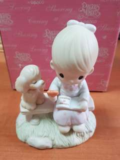 Precious Moments Figurine Loving is Sharing Limited edition 1979