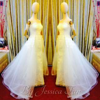 2 in 1 wedding gown
