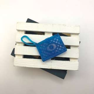 🚚 全新芭比娃娃藍色學院風方形手拿包|Janet Style