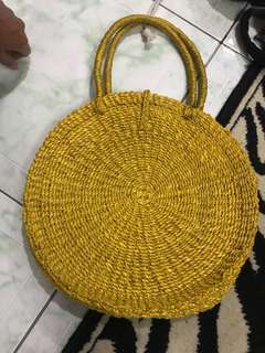 REPRICED!! Boho rattan/ banig Bag