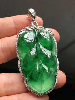 18K鑽石天然A貨大綠葉