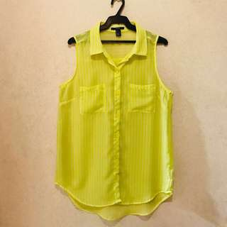 Forever 21 Yellow Blouse
