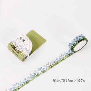 Only 2 Instock! (Mix & Match)* Blue Dandelion Theme Washi Tape