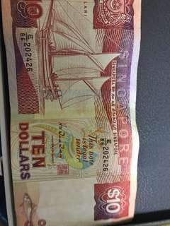 Old $10 note ship series