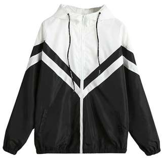 Black & White Windbreaker Jacket