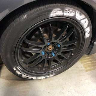 Wts cs3 rims with tyres