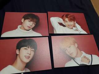Shibuya109 BTS Christmas Collab Postcards
