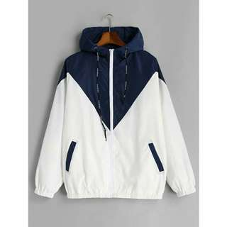 Two Tone Windbreaker Jacket