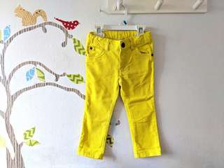 CARTERS Yellow Jeans 2T