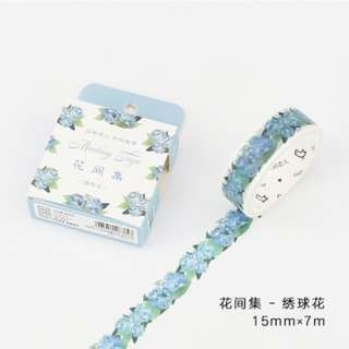 Only 1 Instock! (Mix & Match)*Little Blue Flower Theme Washi Tape