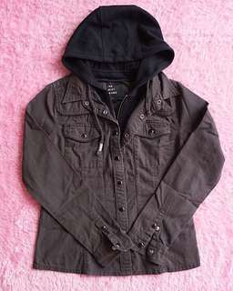 Double Zip Hooded Jacket