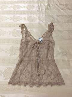 🚚 Chanel 膚色針織背心