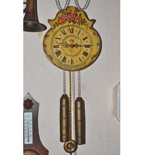 ANTIQUE VINTAGE REGULA GERMANY MECHANICAL WEIGHTS DRIVEN PENDULUM WALL CLOCK
