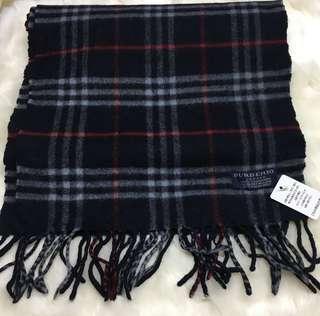Burberry Vintage Cashmere Scarf 頸巾 (Navy Blue)