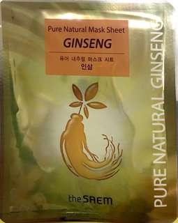The Saem Pure Natural Mask Sheet Gingseng