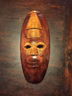 African Mask hand crafted and kiln dried