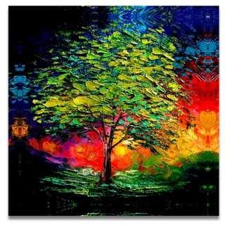 Dusky Tree Handpainted Oil Painting