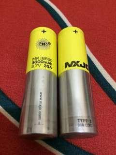 2x Authentic original baterai MXJO 18650 3000mAh murah