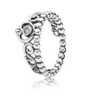 PANDORA Silver Tiara Ring - Size 56