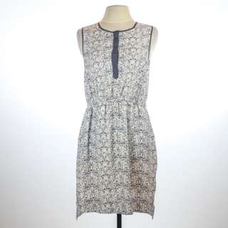 Forever 21 White A-line dress with vine print