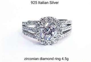 Zirconian Diamond ring