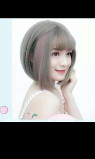 PO Bobo straight short highlight wig *Waiting time 14 days  after payment is made *pm to order
