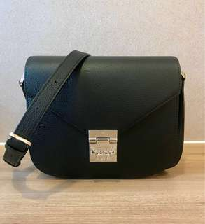 Brand New MCM Patricia Shoulder Bag in Tipped Leather