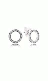 Pandora earings with clear cubic zirconia