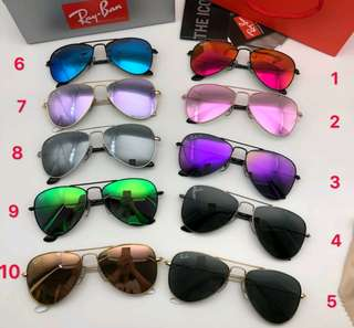 Ray Ban sunglasses aviator flash lenses rb3025 58/62mm size brand new full packages original rayban