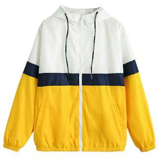 UNISEX Tricolor Windbreaker Jacket