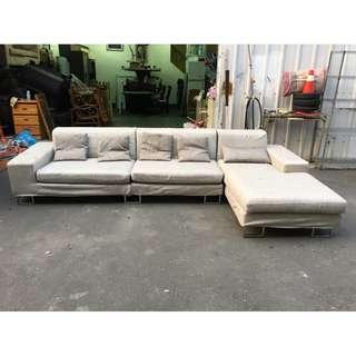 非凡二手家具 灰色 11尺L型布沙發*客廳沙發*辦公沙發*KTV沙發*二手沙發*沙發椅*布沙發*沙發床*