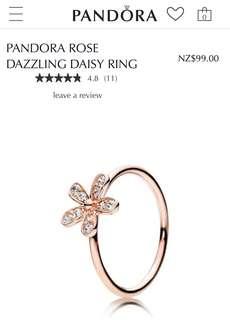 Pandora rosegold dazzling daisy ring