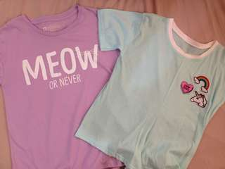 PAIR Penshoppe Meow or Never + Unbranded Patched Tee